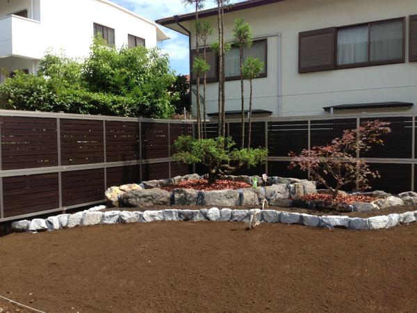 和風の良さと洋風の良さが共演したお庭!!