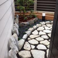 お風呂から眺める坪庭のサムネイル