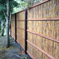 天然素材の竹垣のサムネイル